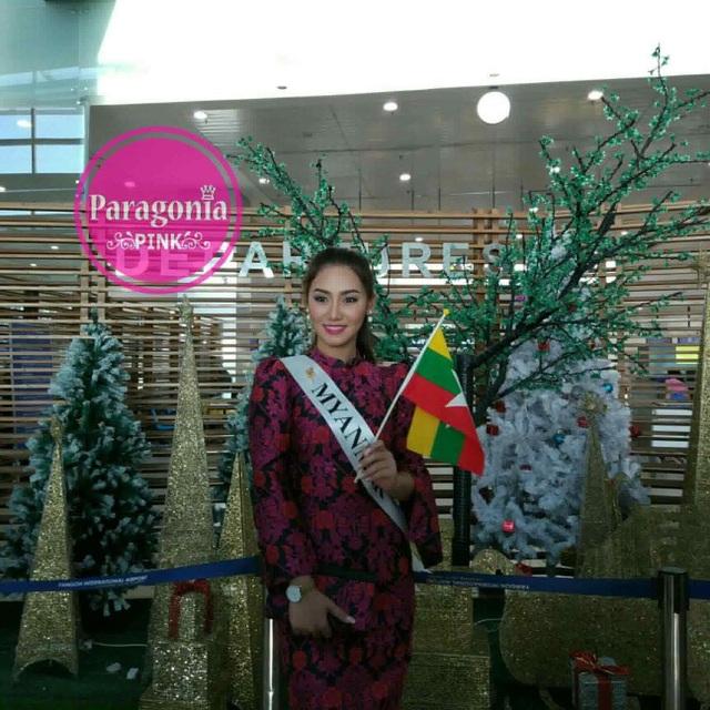 Hoa hậu Myanmar - Htet Htet Htun lên đường sang Philippines tham dự cuộc thi Hoa hậu Hoàn vũ 2016
