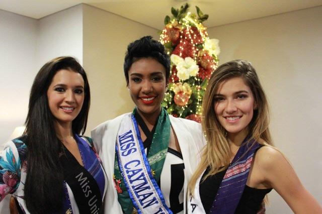 Từ trái sang: Hoa hậu Anh, Hoa hậu đảo Cayman và Hoa hậu Séc đã có mặt tại Manila để tham dự cuộc thi Hoa hậu Hoàn vũ 2016