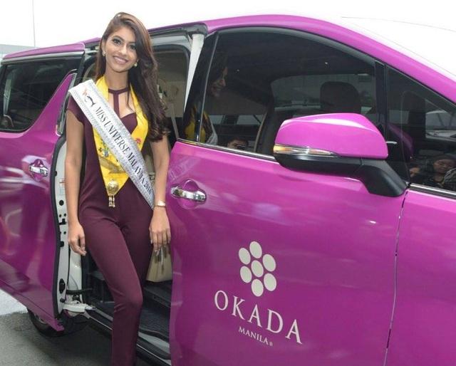 Hoa hậu Malaysia - Kiran Jassal đã tới Manila tham dự cuộc thi Hoa hậu Hoàn vũ 2016