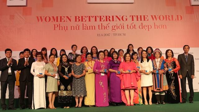 Top 50 phụ nữ ảnh hưởng nhất Việt Nam 2017
