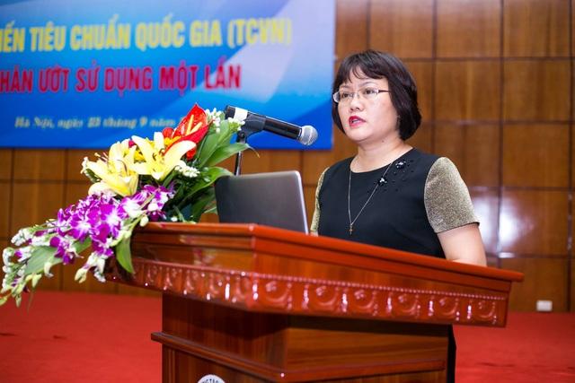 Bà Ngô Thị Ngọc Hà, Phó Viện trưởng Viện Tiêu chuẩn chát lượng Việt Nam.