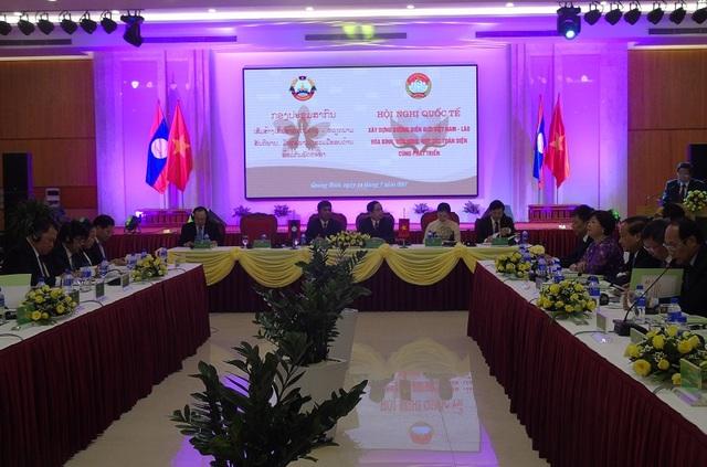 Hội nghị Quốc tế Xây dựng đường biên giới Việt Nam - Lào hòa bình, hữu nghị, hợp tác toàn diện cùng phát triển diễn ra tại Quảng Bình