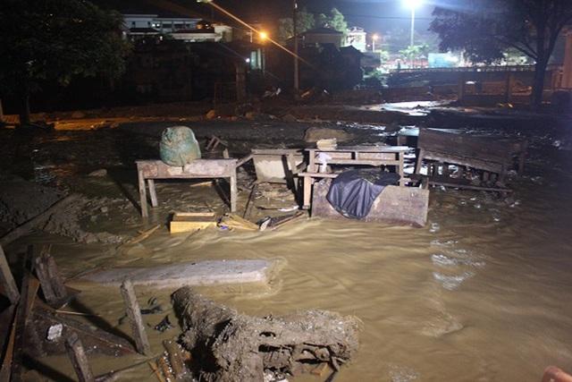 Mưa lũ đã gây thiệt hại nặng nề cho huyện Mù Cang Chải - Yên Bái (Ảnh: Trần Thanh).