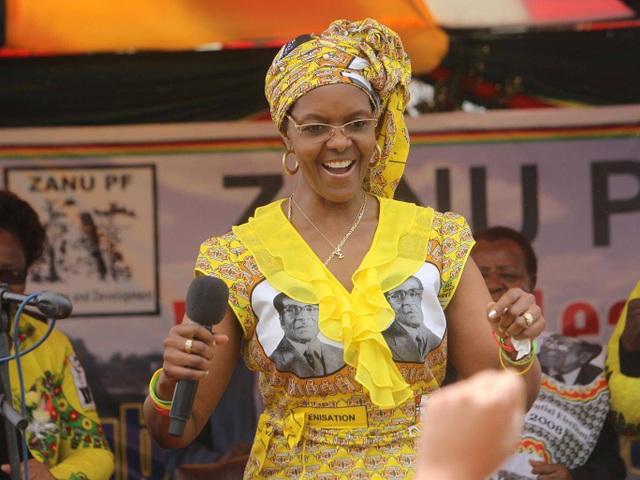 Đệ nhất phu nhân Zimbabwe Grace Mugabe (Ảnh: AP)