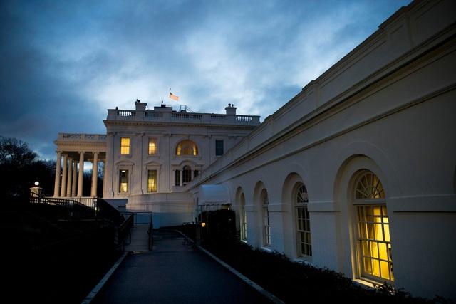 Một sớm bình minh tại Nhà Trắng hồi tháng 1 (Ảnh: New York Times)