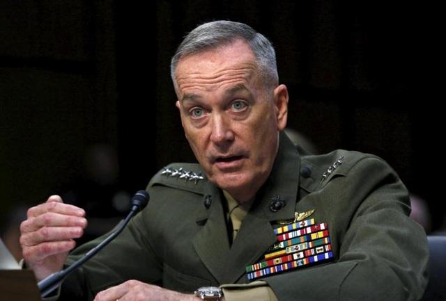 Chủ tịch Hội đồng tham mưu trưởng Mỹ, Tướng Joseph Dunford (Ảnh: Reuters)