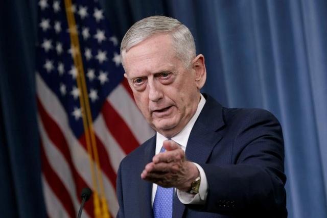 Bộ trưởng Quốc phòng Mỹ Jim Mattis (Ảnh: Reuters)