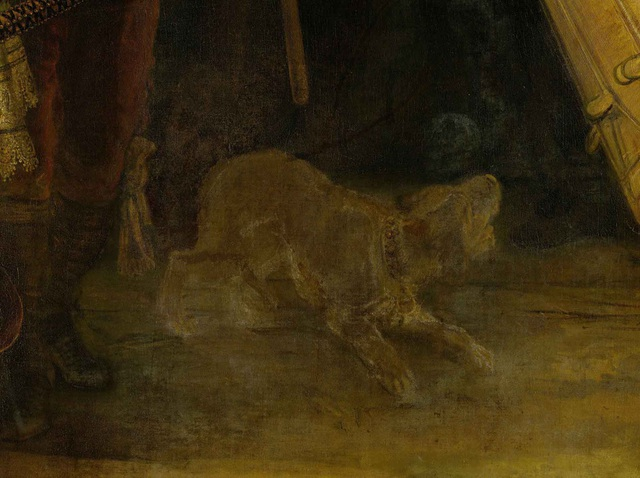 """Theo đánh giá của giới chuyên môn, bức """"chú chó sục Braunschweig"""" có thể là một nghiên cứu phác họa trước khi ông khắc họa chú chó trong bức """"Phiên tuần đêm""""."""