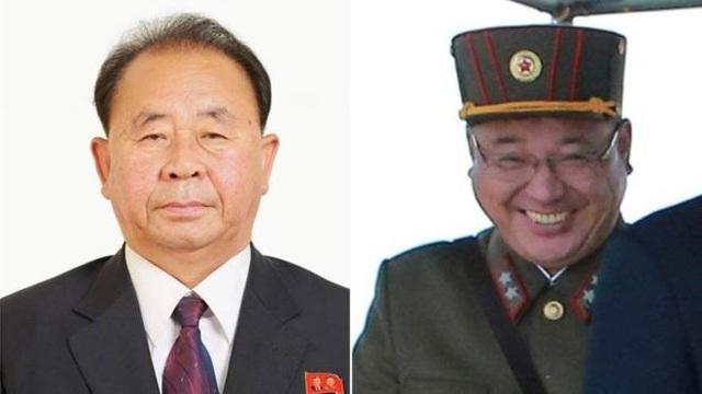 Ông Ri Pyong-chol (trái) và ông Kim Jong-sik được cho là hai trong số những trợ tá thân cận nhất của nhà lãnh đạo Triều Tiên Kim Jong-un. (Ảnh: Reuters)