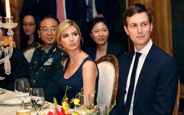 Con gái Tổng thống Mỹ Donald Trump và con rể. (Ảnh: EPA)