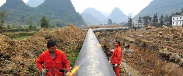 Một đoạn đường ống dẫn dầu tại Myanmar (Ảnh: Oilprice)