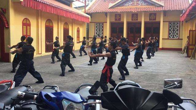 Hoạt động luyện võ của các các võ sinh Nam Huỳnh Đạo vẫn diễn ra bình thường