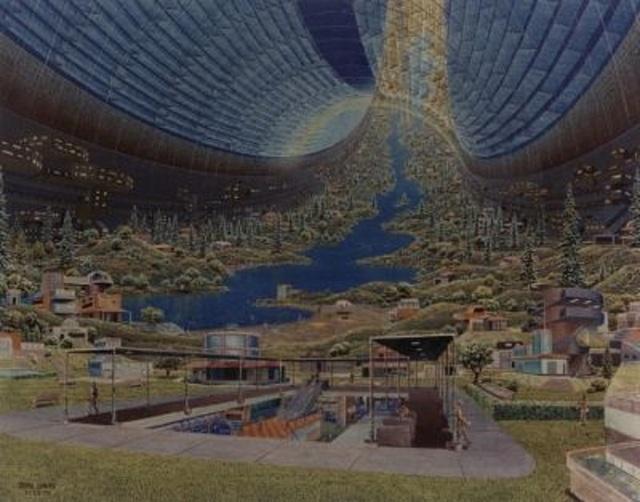 Hình dung về nền nông nghiệp với quy mô đủ lớn sẽ đủ để hỗ trợ cho trạm vũ trụ với 140.000 dân cư.