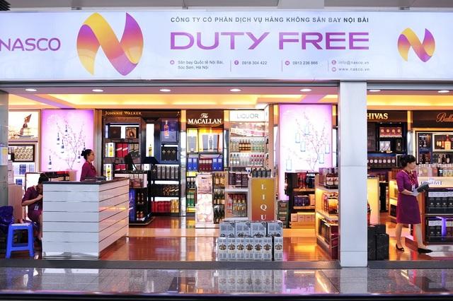 Một cửa hàng miễn thuế của NASCO tại Sân bay Nội Bài