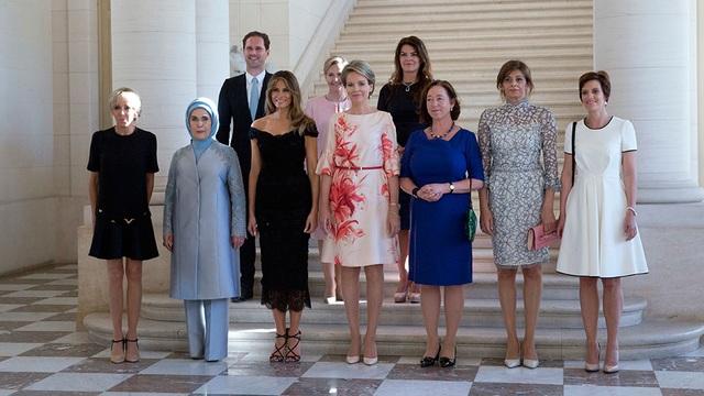 Đệ nhất phu nhân thay đổi trang phục cho mỗi sự kiện ở Bỉ. (Ảnh: AAP)