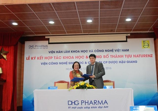 Lễ ký kết hợp tác giữa Công ty CP Dược Hậu Giang và Viện Công nghệ sinh học