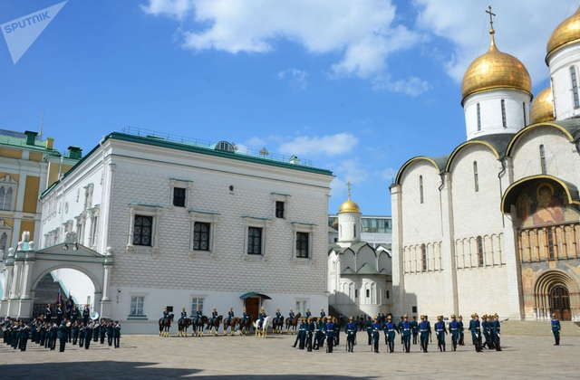 Từng nhóm binh sĩ thuộc Trung đoàn Kremlin sẽ được giao các nhiệm vụ khác nhau khi tham gia sự kiện Tháp Spasskaya.