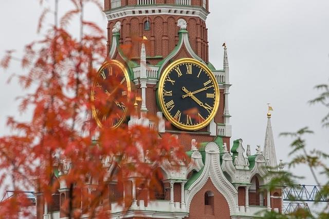 Tháp Spasskaya của Cung điện Kremlin ở Moscow. (Ảnh: TASS)