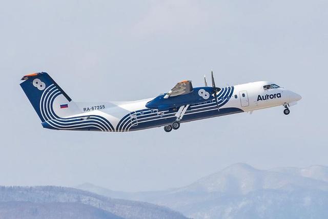 Một máy bay của hãng hàng không Nga Aurora Airlines. (Ảnh: Moscow Times)