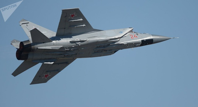 Máy bay chiến đấu MiG-31 của quân đội Nga. (Ảnh: Sputnik)