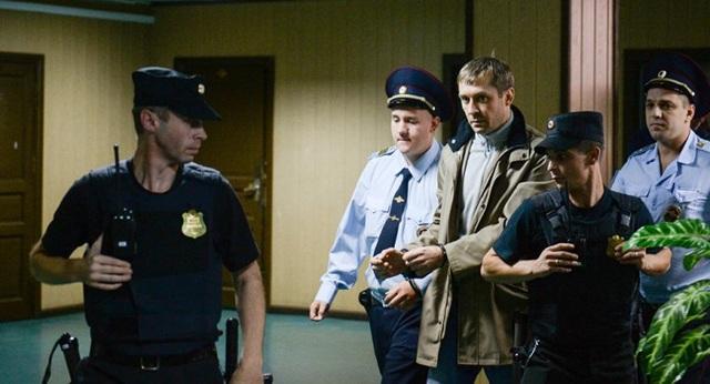 Quyền Cục trưởng Cục chống tham nhũng của Bộ Nội vụ Nga Dmitry Zakharchenko khi bị bắt (Ảnh: Sputnik)