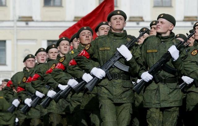 Lễ diễu binh của quân đội Nga (Ảnh: TASS)
