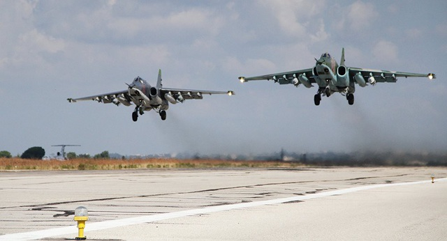 Máy bay chiến đấu Su-25 của Nga ở Syria (Ảnh: Sputnik)