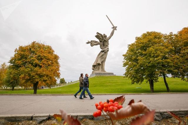 Tượng đài Mẹ Tổ quốc ở Volgograd. (Ảnh: Sputnik)