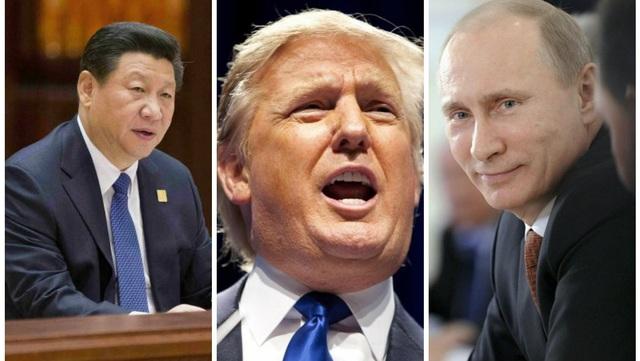 Mối quan hệ Mỹ - Trung, Nga - Mỹ tiếp tục làm tâm điểm chú ý trong năm 2017. (Ảnh minh họa: Getty)