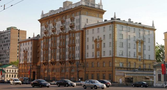 Đại sứ quán Mỹ tại Moscow, Nga (Ảnh: Sputnik)
