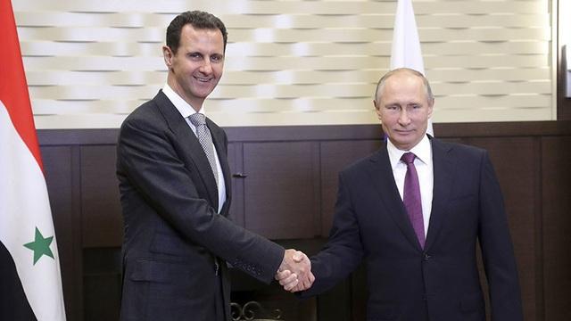 Tổng thống Syria Bashar al-Assad và Tổng thống Nga Vladimir Putin (Ảnh: Reuters)