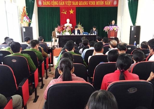 Chủ tịch UBND tỉnh Thanh Hóa chủ trì buổi thông báo nguyên nhân ngao chết tại xã Hải Lộc, huyện Hậu Lộc