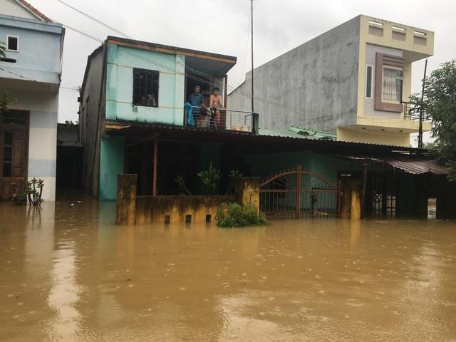 Nước ngập vào tận nhà