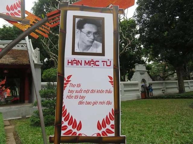 BTC đã nhầm ảnh nhà thơ Yến Lan thành nhà thơ Hàn Mạc Tử. Ảnh: KMS.