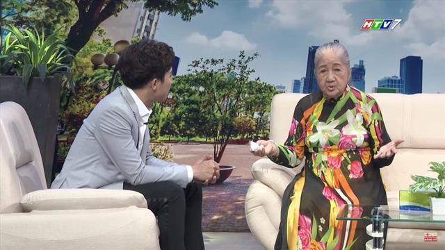 Nghệ sĩ Thiên Kim và MC Trấn Thành.