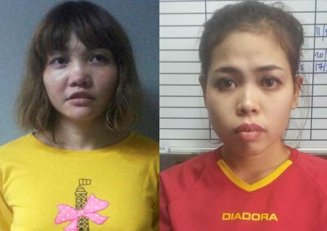 Hai nữ nghi phạm trong vụ ông Kim Jong-nam. (Ảnh: Reuters)