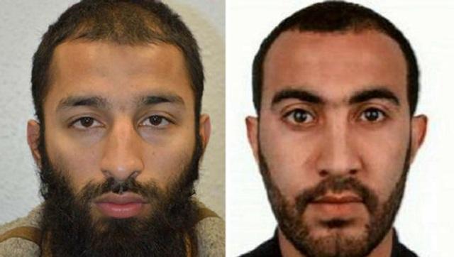 Nghi phạm Khuram Shazad Butt (trái) và Rachid Redouane. (Ảnh: Metropolitan Police)