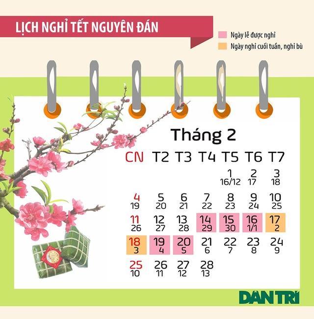 Bộ lịch các ngày Lễ, Tết trong năm 2018 - 2