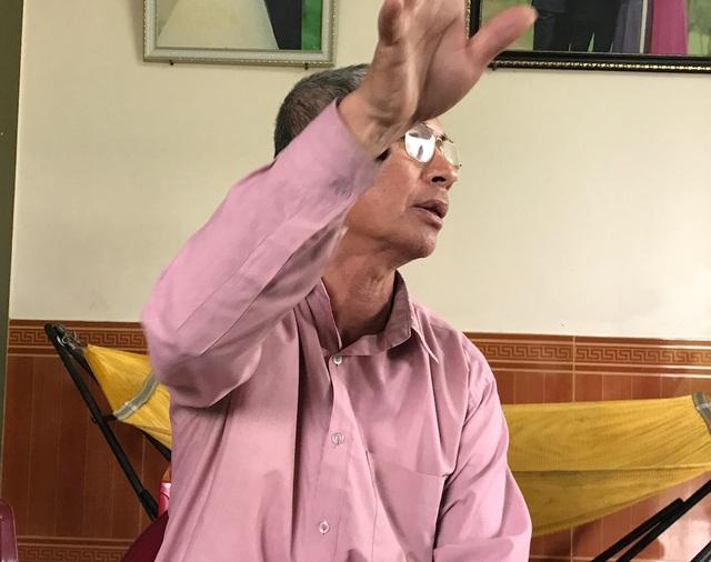 Ông Nguyễn Đình Thuấn bức xúc chia sẻ cùng PV.