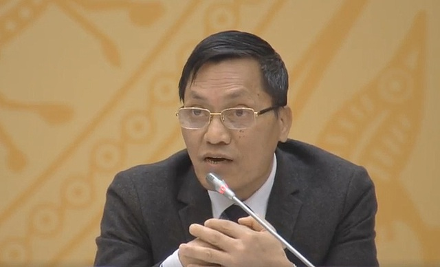 Phó Tổng thanh tra Chính phủ Ngô Văn Khánh tại cuộc họp báo