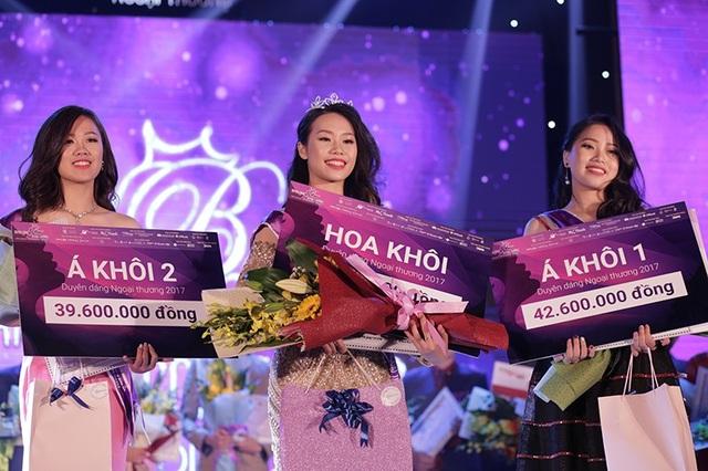 Top 3 cô gái giành giải cao nhất chung cuộc