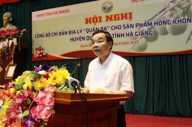 Bộ trưởng Bộ Khoa học và Công nghệ Chu Ngọc Anh phát biểu tại buổi công bố.