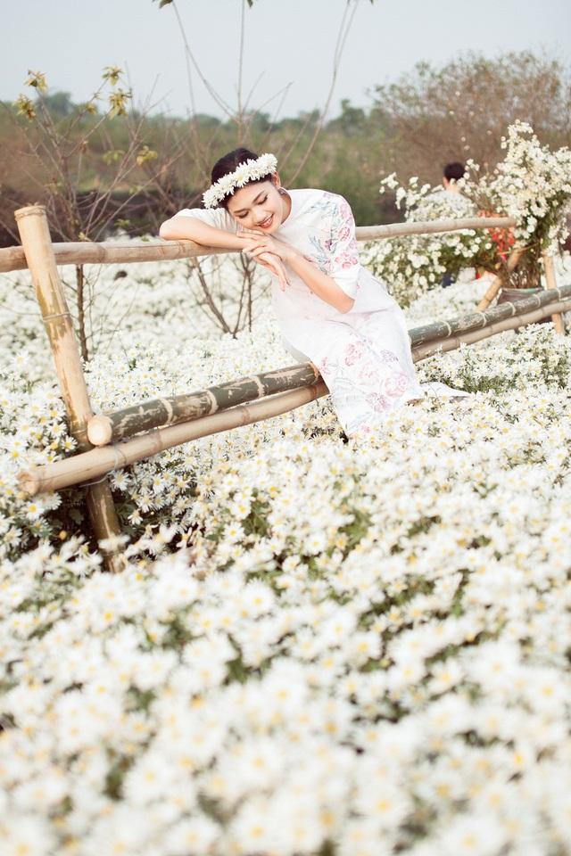 Hoa hậu Ngọc Hân, Á hậu Thanh Tú khoe sắc với cúc họa mi - 11