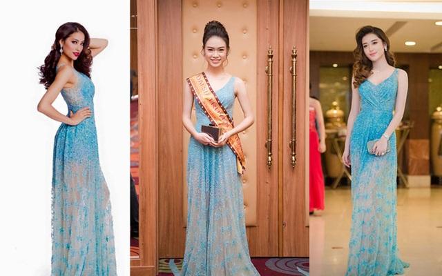Bộ váy Phùng Bảo Ngọc Vân mặc là bộ váy Phạm Hương và Huyền My từng mặc trước đó.