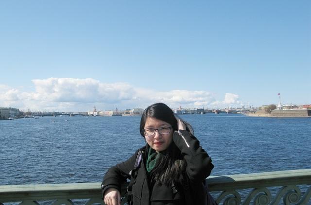Nguyễn Thị Ngọc Linh trong thời gian học 1 năm tại Nga
