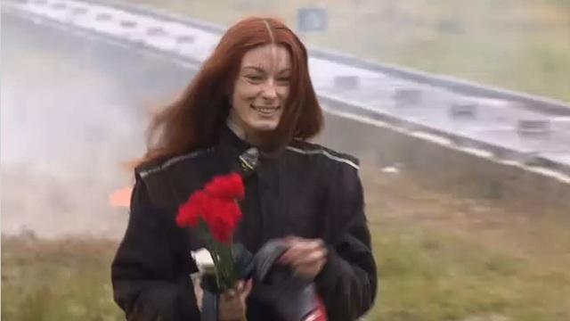 Cô Viktoria Kolesnikov là một diễn viên đóng thế. (Ảnh: RT)