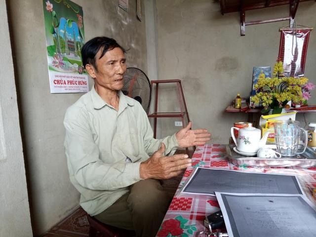Ông Nguyễn Hữu Vinh bất bình vì gạo cứu đói bị cấp hụt