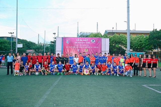 Trận giao hữu giữa V-Stars với lão tướng Công An Hà Nội đã kết thúc trong tỷ số 4-4, và số tiền quyên góp tại sân để giúp đỡ đồng bào vùng lũ Mường La (Sơn La) là 66.650.000đ.