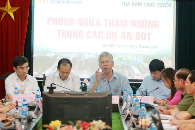 Cuộc toạ đàm có sự tham gia của lãnh đạo UB Kinh tế của Quốc hội, lãnh đạo Bộ GTVT, đại diện Kiểm toán nhà nước.