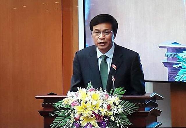 Tổng Thư ký Quốc hội Nguyễn Hạnh Phúc chủ trì cuộc họp báo công bố kết quả kỳ họp thứ 3.